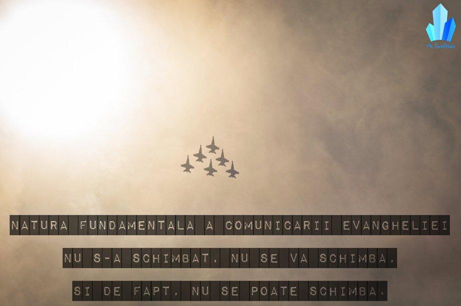 Natura fundamentală a comunicăriiEvangheliei